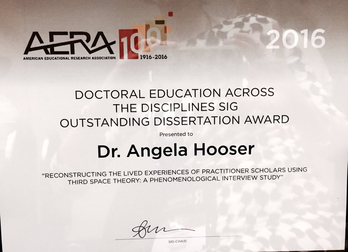 aera outstanding dissertation award