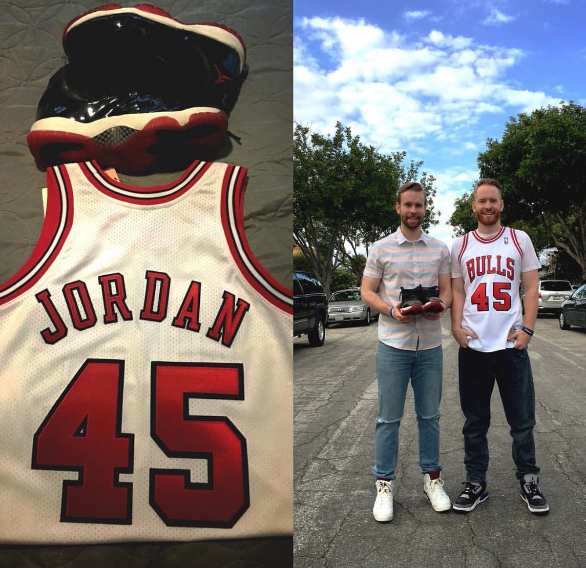 1907a881aed winner of the new mitchell amp ness jordan 45 jersey was mikemac his story  is inspiring