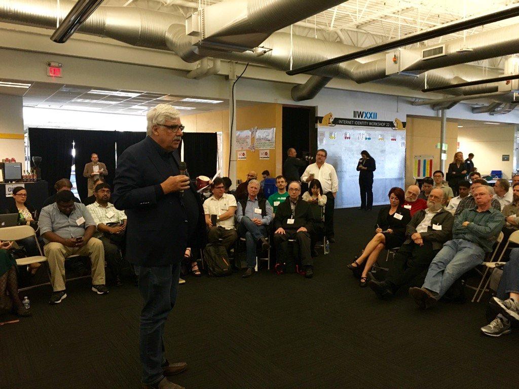 Kim Cameron opens Internet Identity Workshop XXII #iiw https://t.co/UX5vqW0jHz