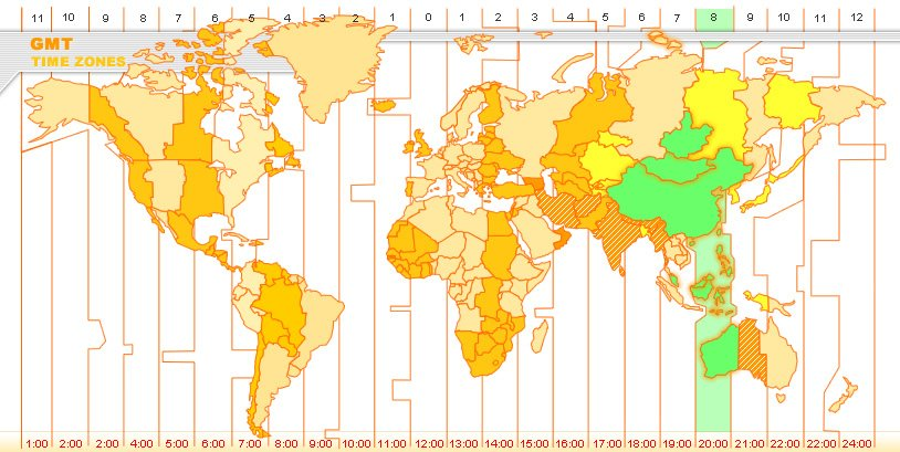 NU Study Abroad On Twitter Culturaltidbits Despite Its Size - China time zone map