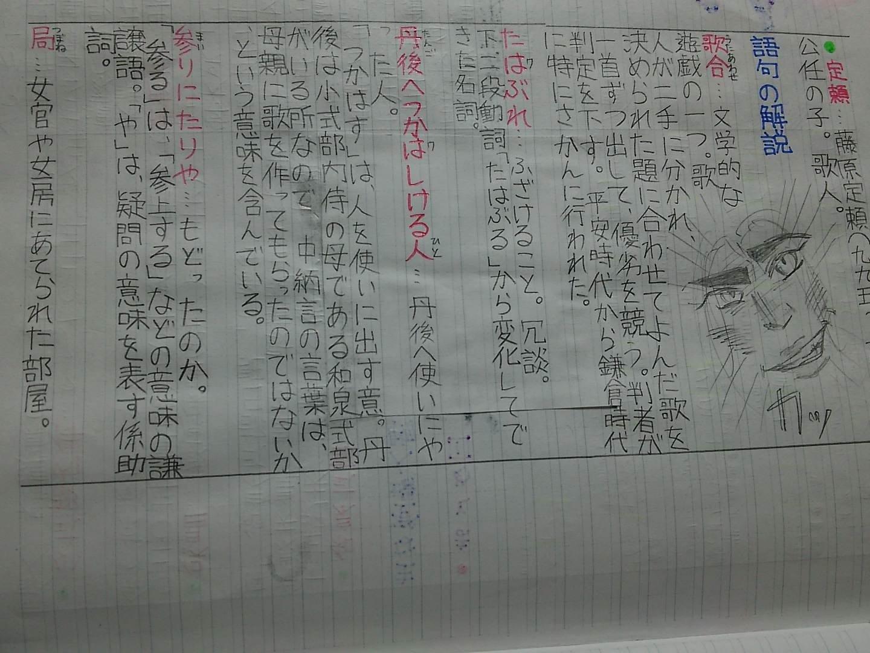 大江山の歌 動詞