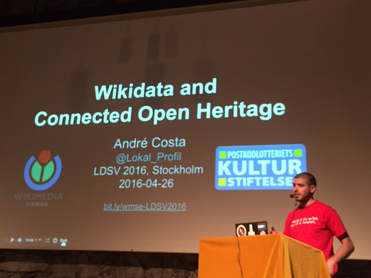 Now time for the presentation at #ldsv2016 on @wikidata and @WikimediaSE https://t.co/7LFg0s9mkV