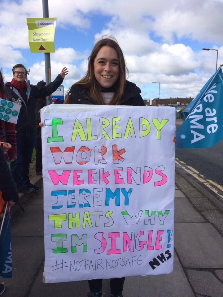 Best one I've seen so far!  (#JuniorDoctorsStrike placard, I mean!) https://t.co/lITO3ToiSo