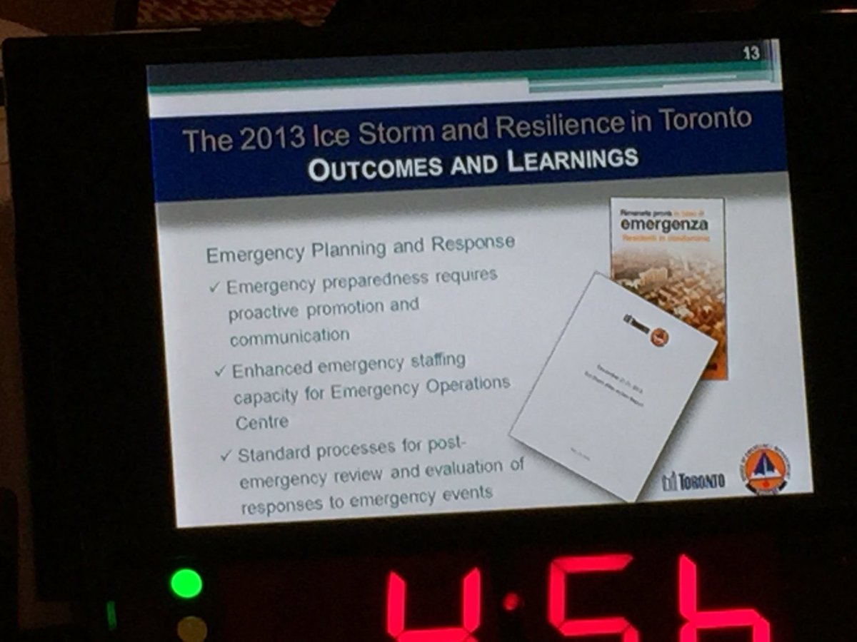 Proactive communication plays a major role in building #resilience - Loretta Chandler @TorontoOEM #cbocresilience https://t.co/gIfpqm2AqW
