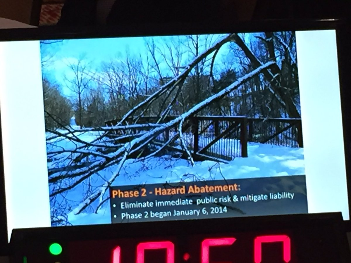 Worked closely with @TorontoHydro to deal with damaged trees after the 2013ice storm #CBoCResilience #smem https://t.co/kkk8nxR1kd