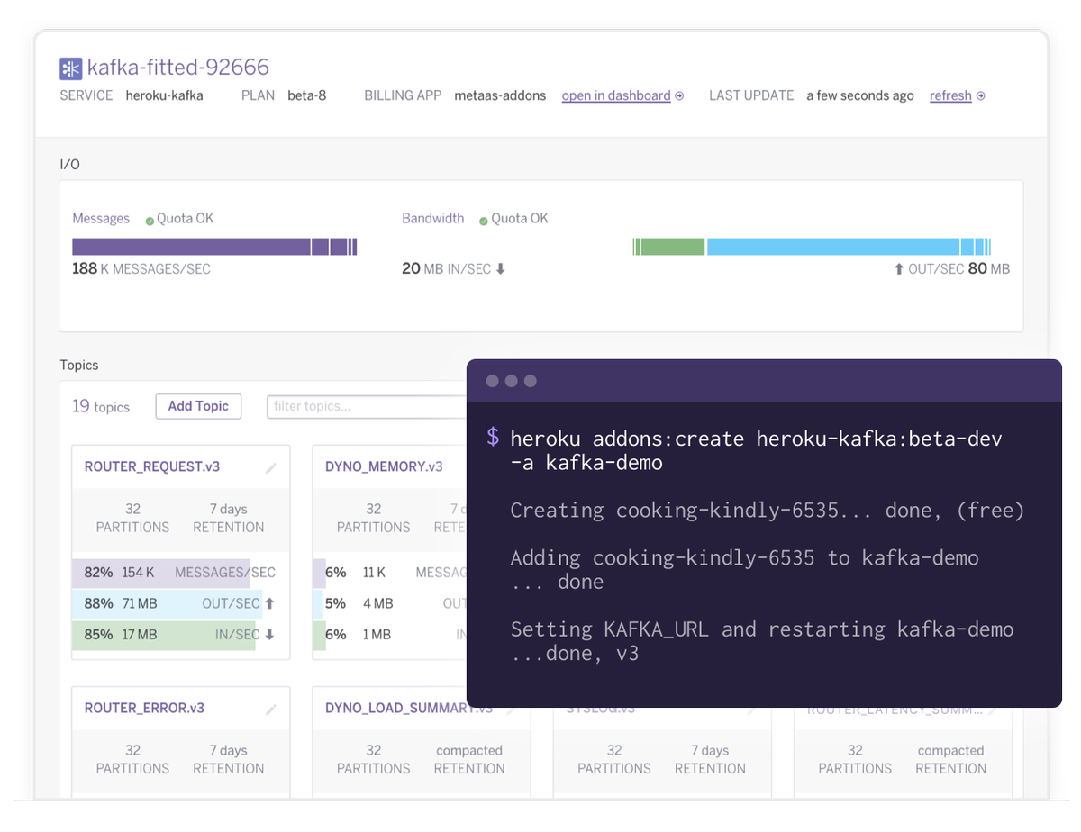 Announcing Heroku #Kafka! Get on our early access list and be the first to try it: https://t.co/8gQqnD1ONz https://t.co/5QTH2TaMJB