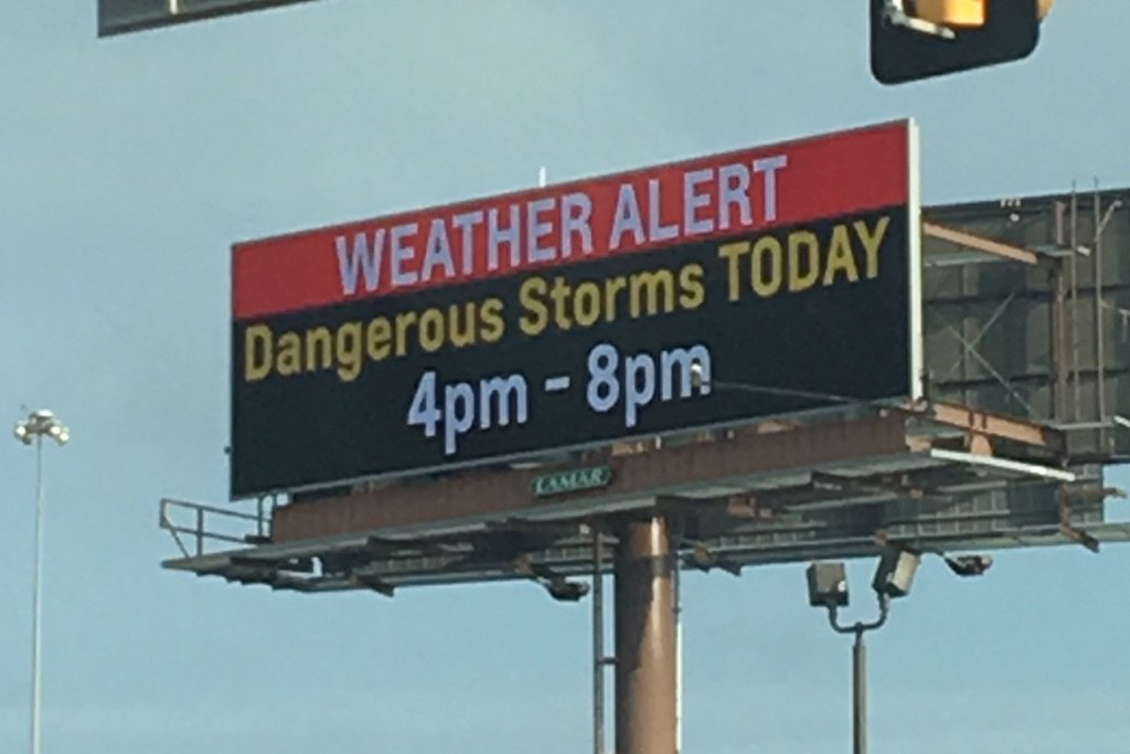 Be weather aware today! (Thanks to @LamarOKC and @NWSNorman for spreading the word in the OKC metro!) https://t.co/0Iu5HGCovH