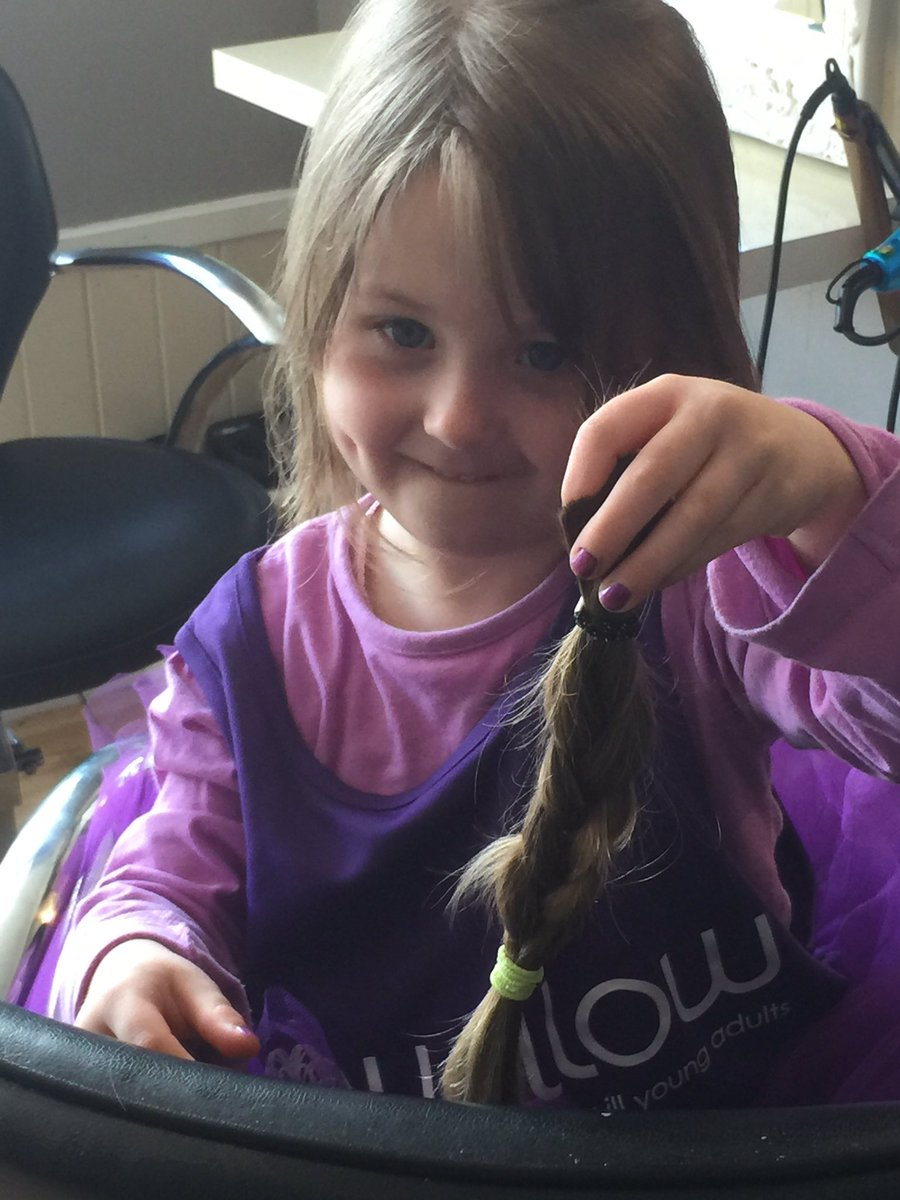 pops hair has been chopped proud doesn't come close!! Our little superstar!! And raised over £800! @Willow_Fdn 💕💇💕