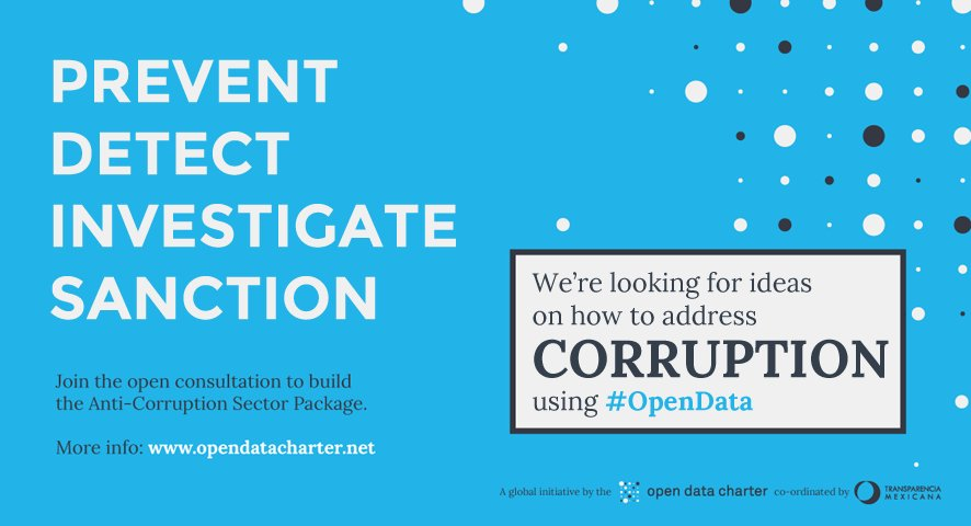 Have you used #opendata in anti-corruption work? Share your story with @opendatacharter: https://t.co/Tno85NMf6j https://t.co/Vu3rsy25OG