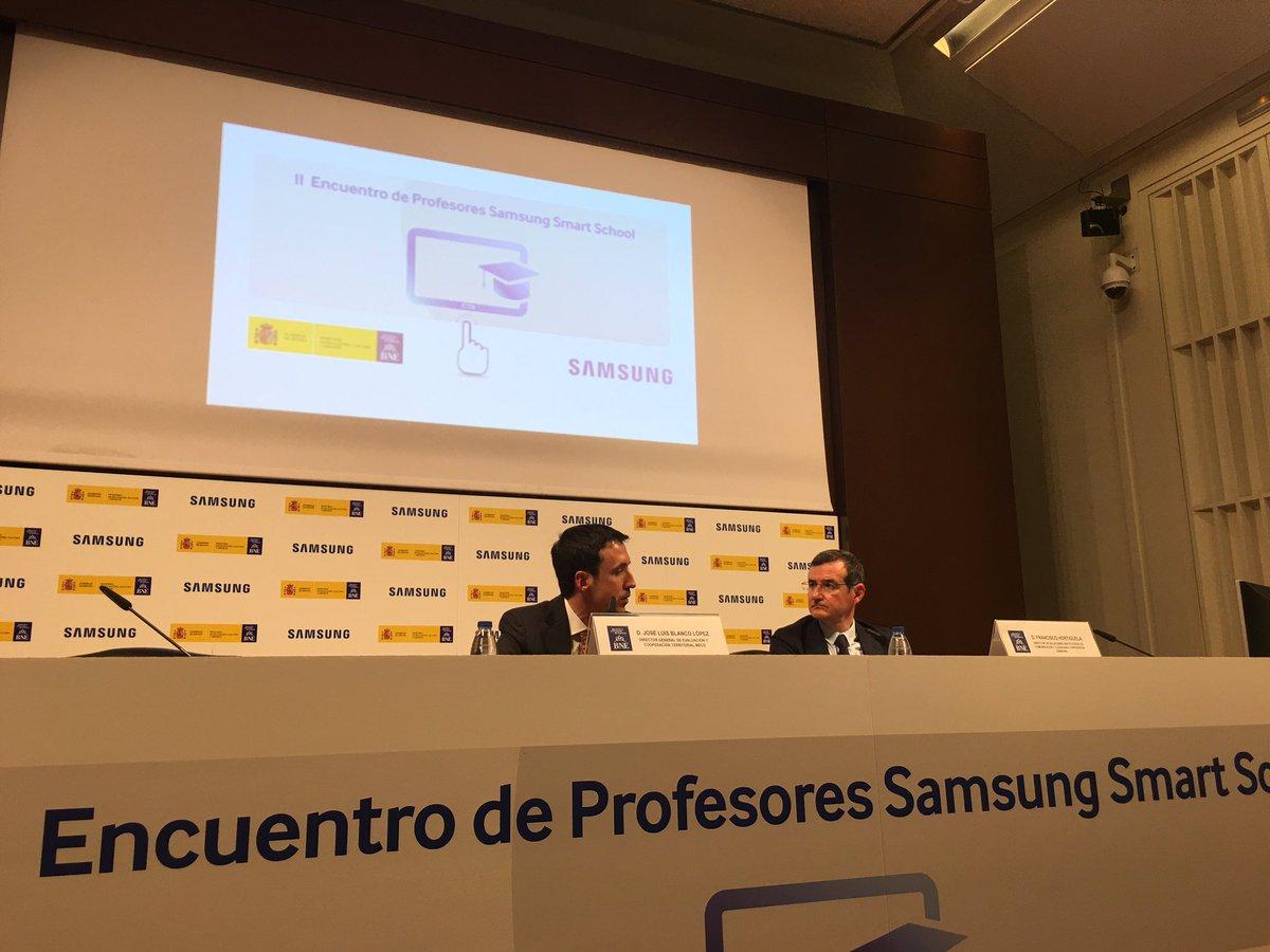 En #SamsungSmartSchool José Luis Blanco anuncia puesta en marcha de mapa de la competencia digital docente https://t.co/sJ2vayoC1g