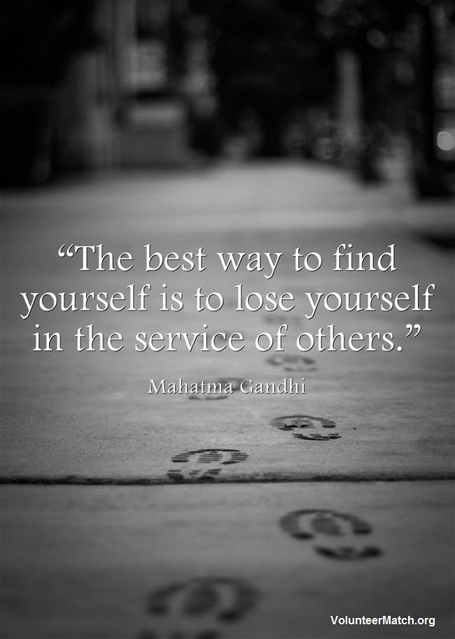"""The best way to find yourself is to lose yourself in the service of others."" — Mahatma Gandhi #MorningInspiration https://t.co/Twj6xf57BN"