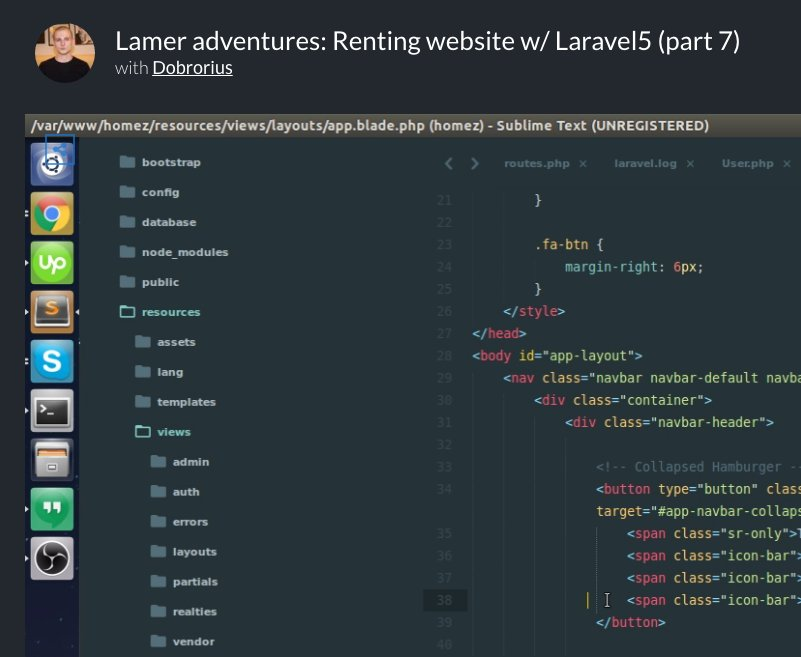 [Video series] Renting website with Laravel