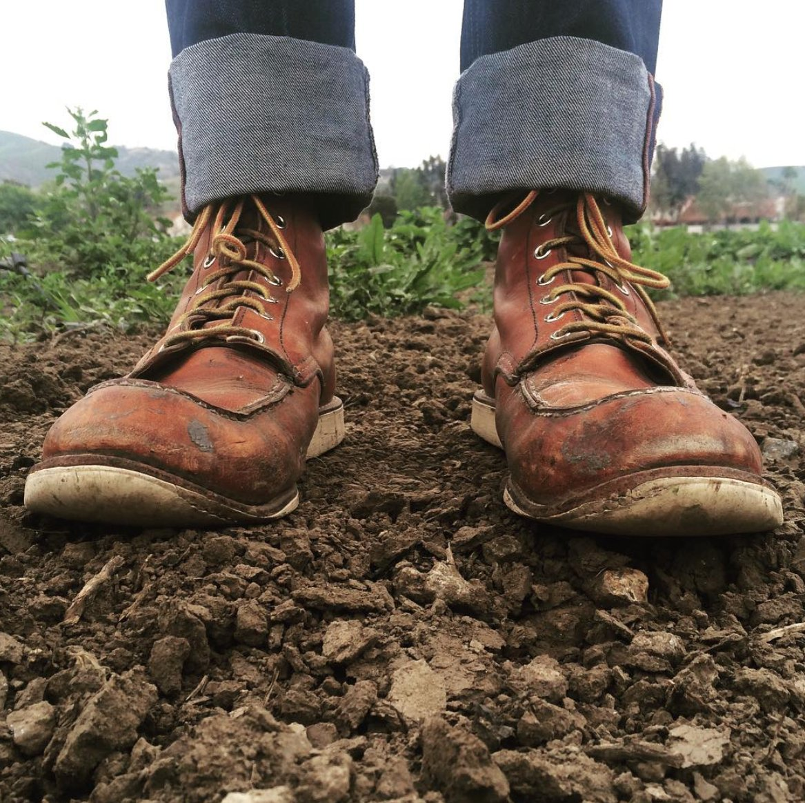 After planting season, time for a resole. #redwingheritage #875