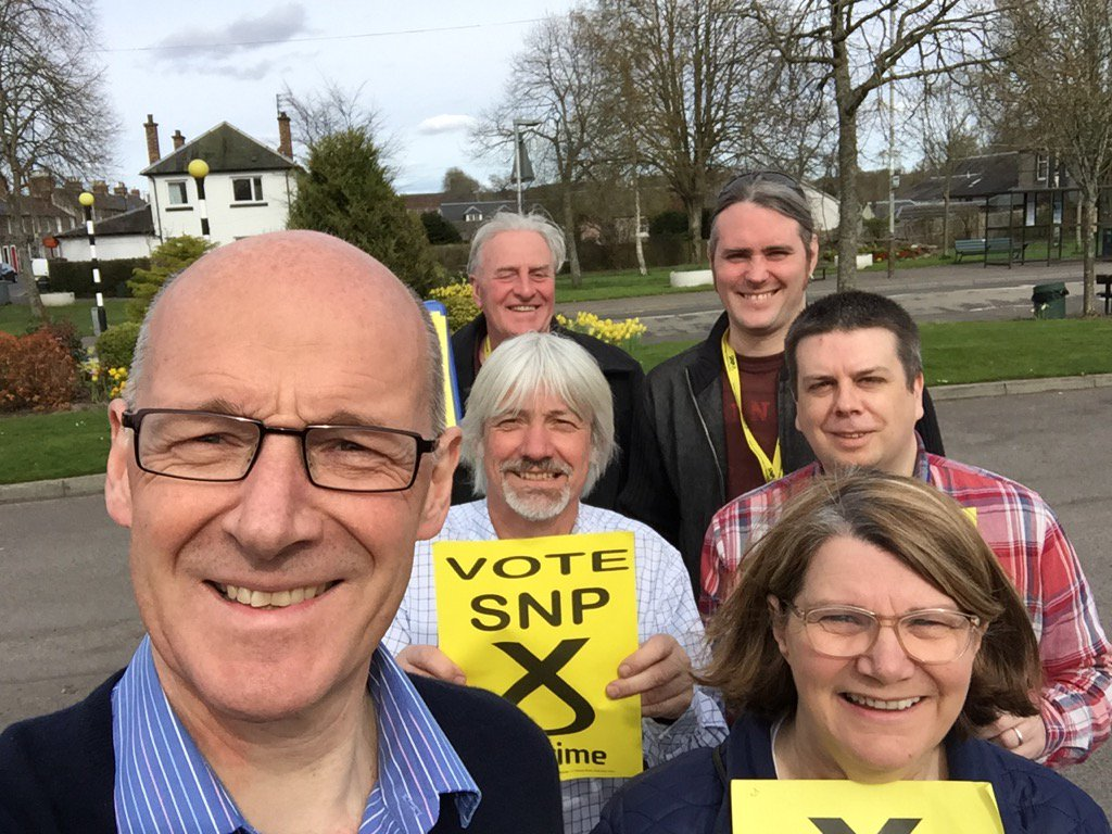 Thanks to my team out canvassing in #Stanley today. #BothVotesSNP