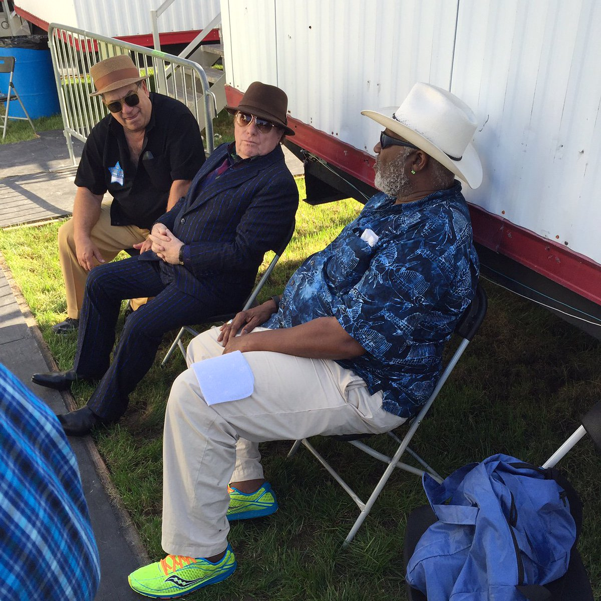 It was great to catch up and record with my friend @vanmorrison yesterday at @jazzfest. https://t.co/5mI8Wdrtdu