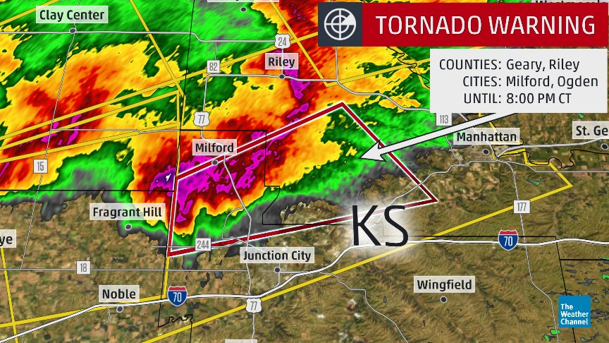 Milford Lake Kansas Map.The Weather Channel On Twitter Tornado Reported Near Milford Lake
