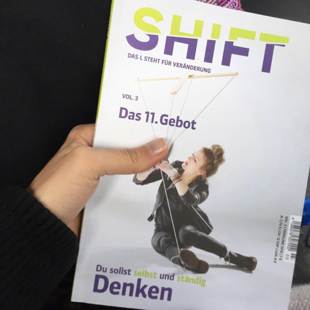 Yay - wieder mal @shiftmagazin #freu Am Kiosk in Uster hat's übrigens noch ein Exemplar! https://t.co/8yx3FSQcLc