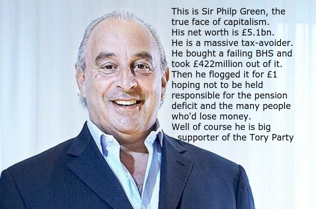 BHS has been failing for years but how Sir Philp Green  looted it shows just what rampant capitalism can lead to. https://t.co/bqbZJSMVxW
