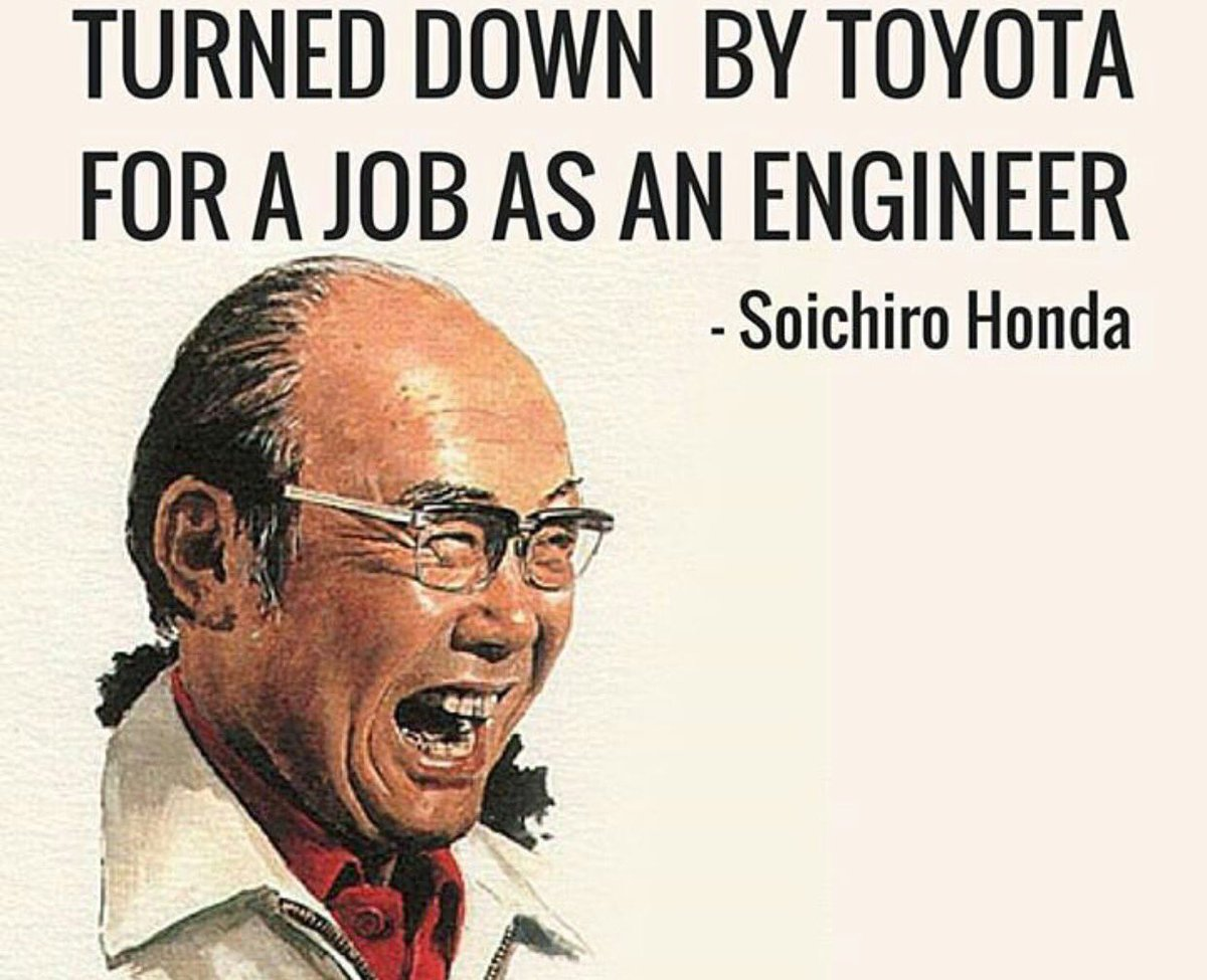 """Jason Allan Scott On Twitter: """"This Is Soichiro Honda, He Was Turned Down For A Job By Toyota"""