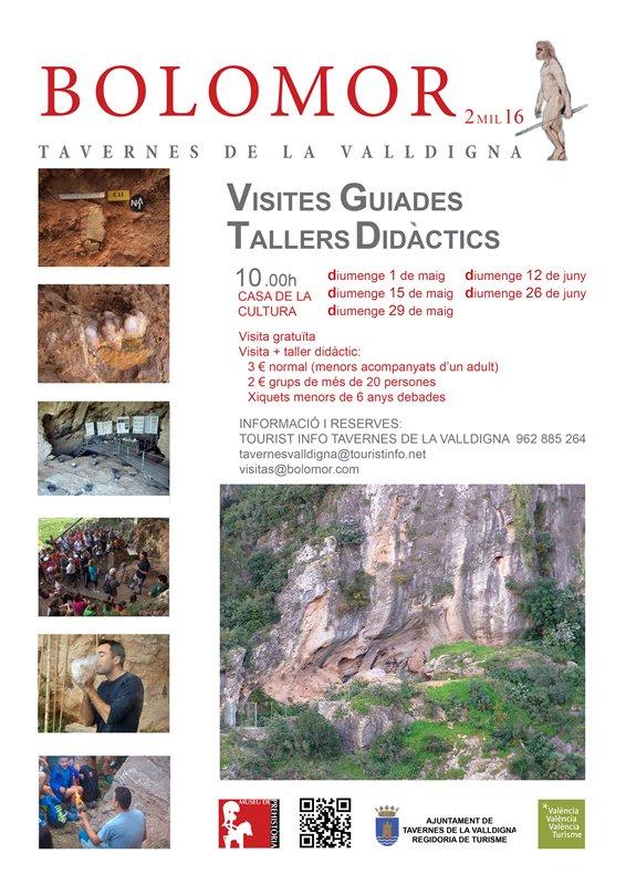 Noves visites programades per a la cova del Bolomor pic.twitter.com/m7mRQfSk35 — AjTavernes Valldigna (@AjunTavernesV) 25 d'abril de 2016 Tweet