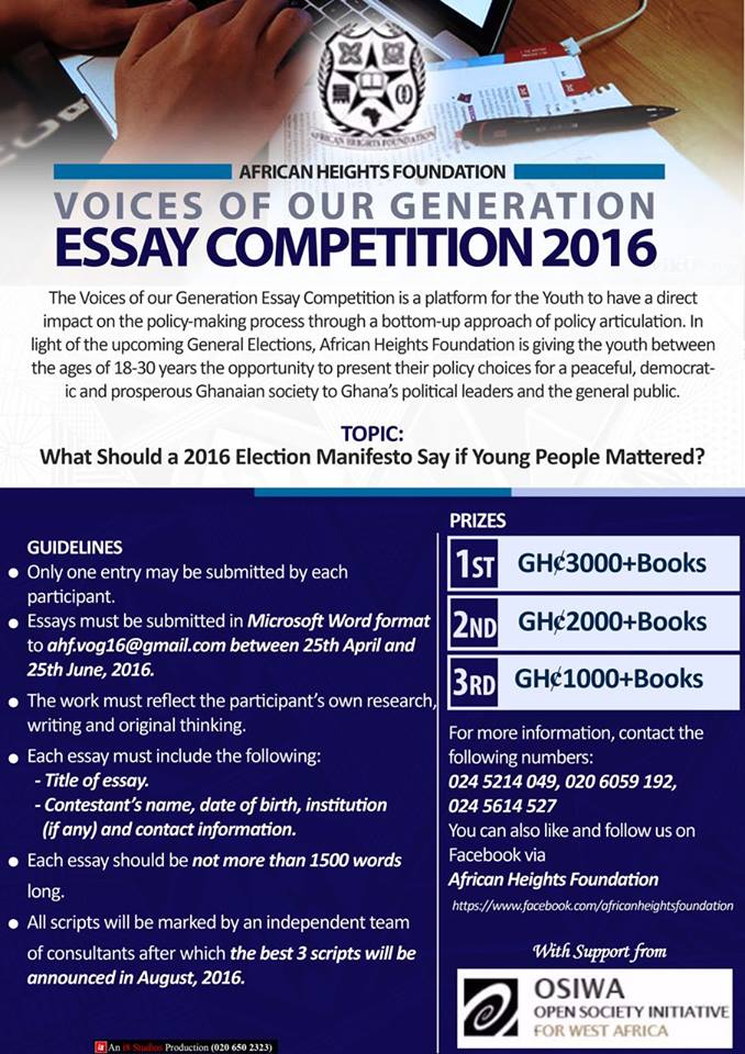 commenwealth essay competition The queen's young leaders programme is a partnership between the queen elizabeth diamond jubilee trust, comic relief, the royal commonwealth society and the university of cambridge's institute of continuing education.