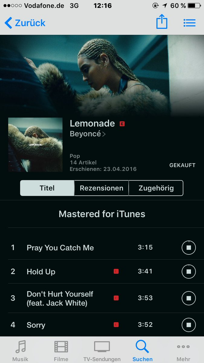 Just bought #LEMONADE on iTunes