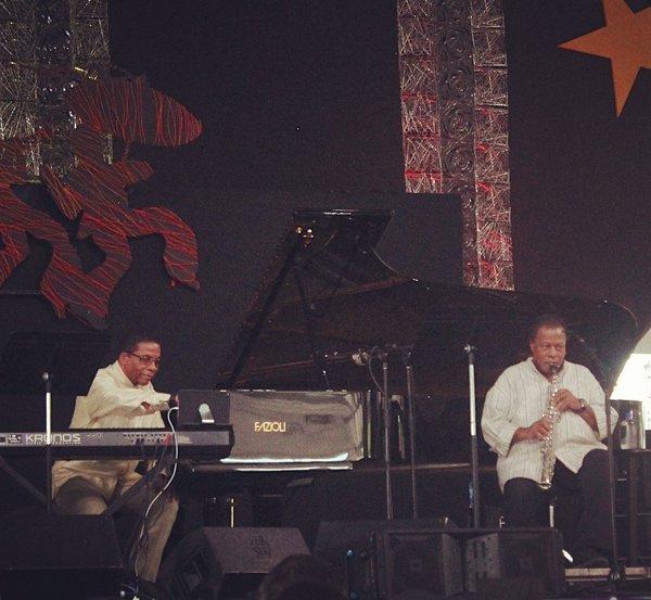 Loved seeing Herbie Hancock & Wayne Shorter @jazzfest yesterday #JazzFest in New Orleans https://t.co/KB2wAK5Fx9
