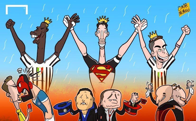 Vignetta satirica sulla Juventus Campione D'Italia