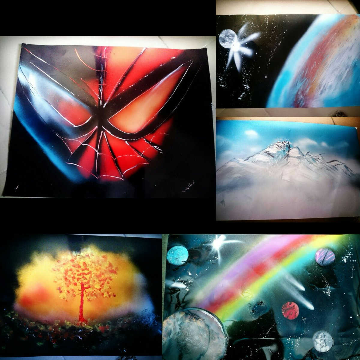Painting is one of my hobbies. Should you need paintings (spray paint art) I've got some piece for sale. Kindly RT. https://t.co/YbbHgD1OF3