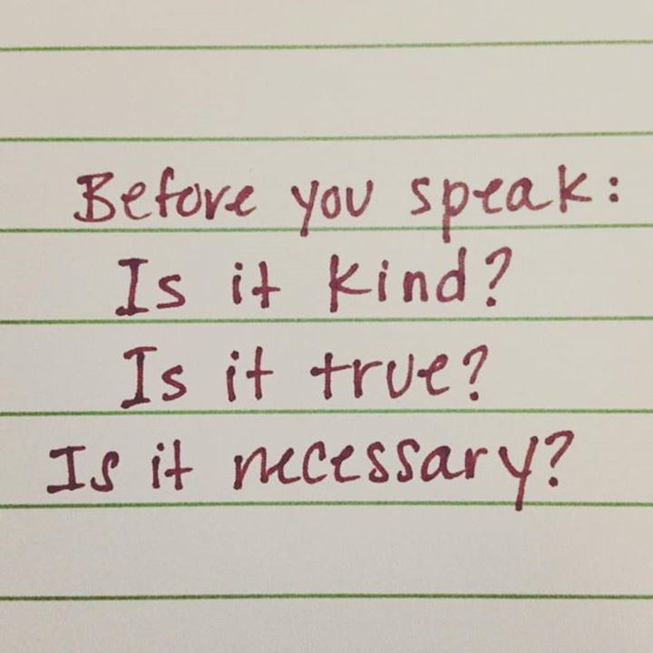 Before you speak, ask yourself this questions... https://t.co/YCME4ntLPt