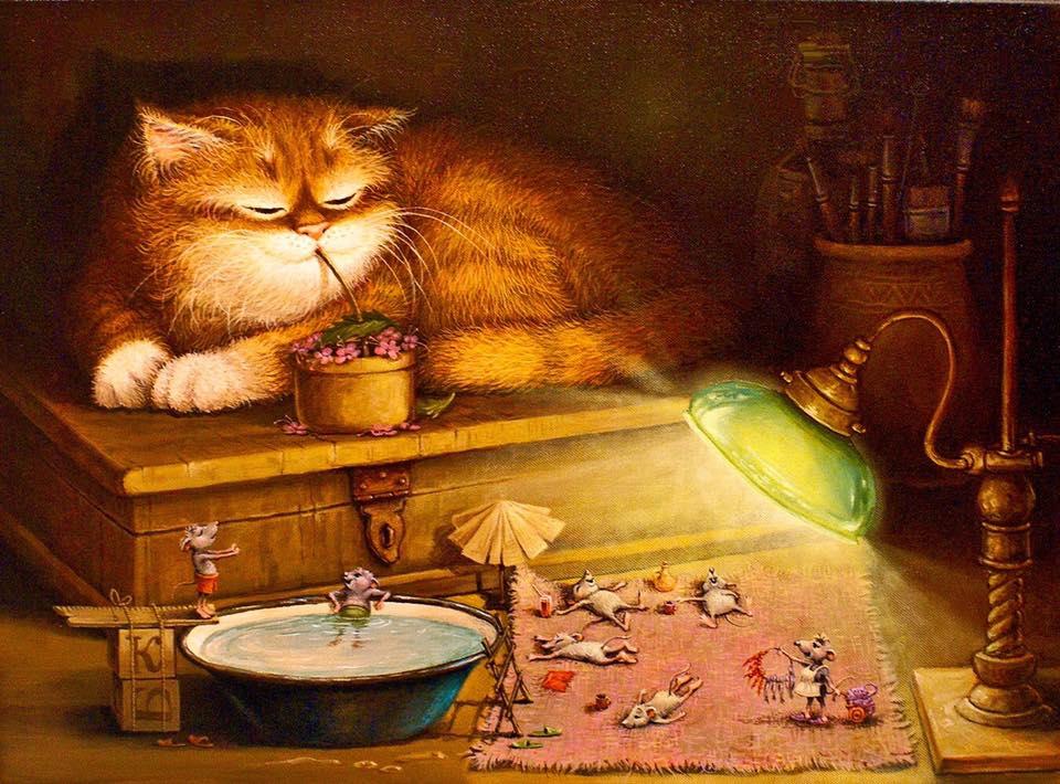 Четверг прикольные, коты прикольные картинки декупаж