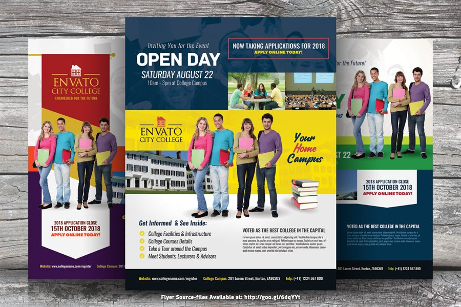 Kinzi 21 On Twitter College Open Day Flyer Templates On