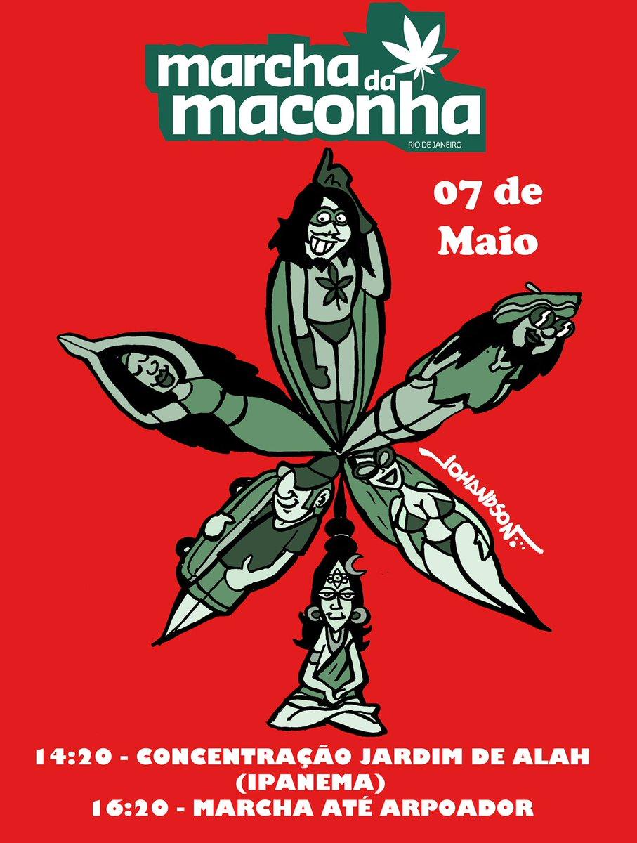Dia 7 de Maio o Rio de Janeiro vai marchar pela legalização da Maconha! Divulgue, Retuíte e compareça! #LegalizeJá https://t.co/667WALzvuf