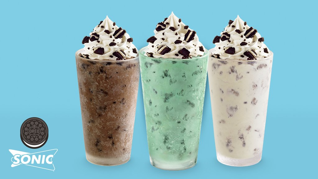 """OREO Cookie on Twitter: """"The brain freeze is totally worth it. New OREO  Cookie Master Blasts are now at @sonicdrivein… """""""