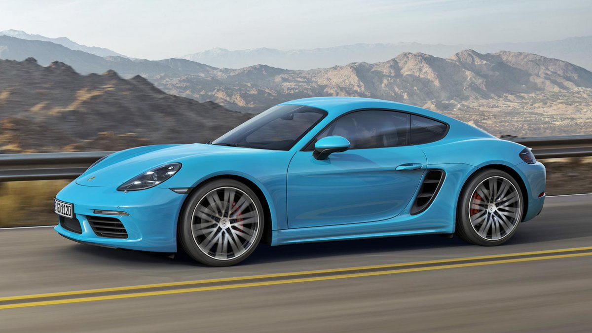 Porsche Chandler On Twitter New Cayman Just Debuted Base 300hp 280 Lb Ft 0 60 4 7 Sec S 350hp 309 2 Turbo 4cyl