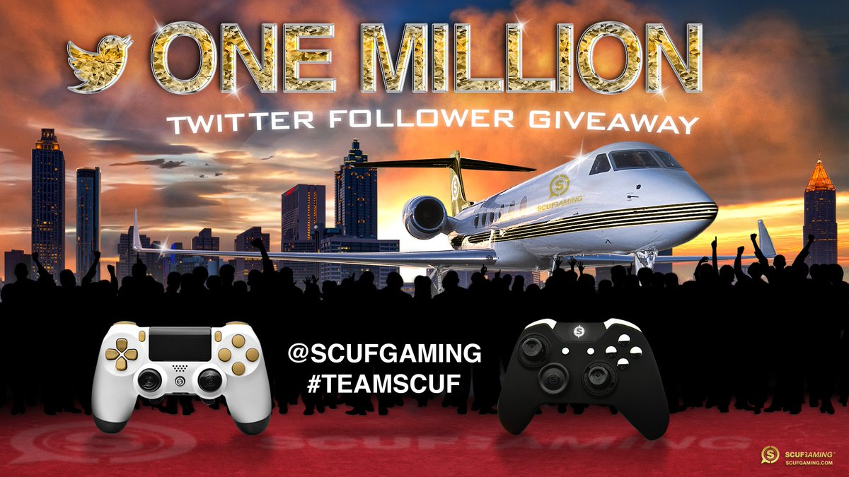 Time to celebrate 1,000,000 followers! Enter the #SCUFmillion Giveaway! #TeamSCUF https://t.co/NobhtpeOBA https://t.co/sM9dBxDQDM