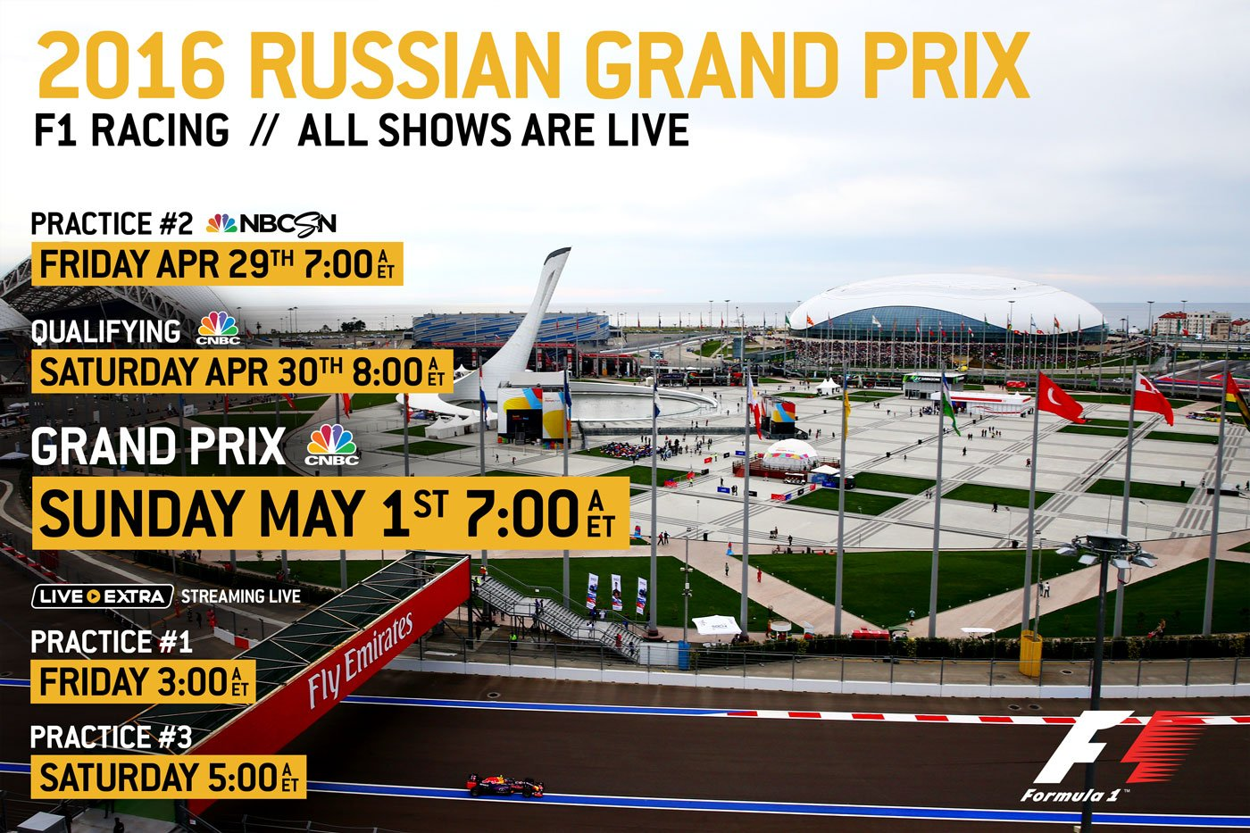 f1 on nbc sports on twitter it 39 s russiangp race week here are all of your tv streaming times. Black Bedroom Furniture Sets. Home Design Ideas