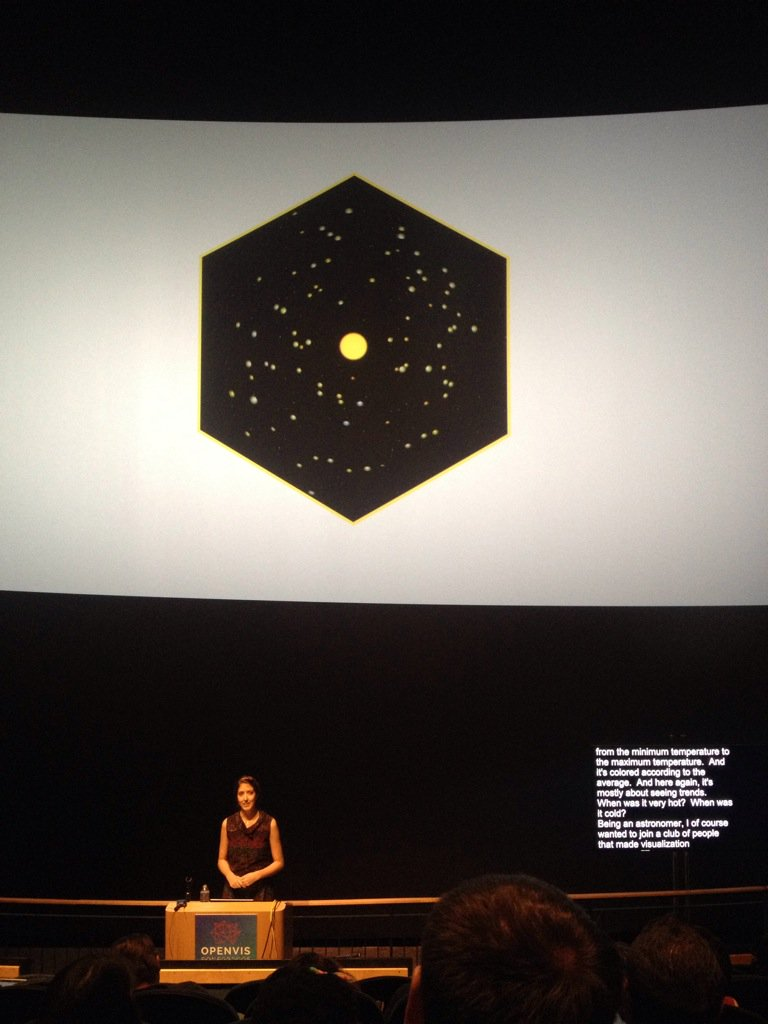 Awesome showcase of work from astronomer turned data visualiser @NadiehBremer at #openvisconf https://t.co/Kfwfv0ot81