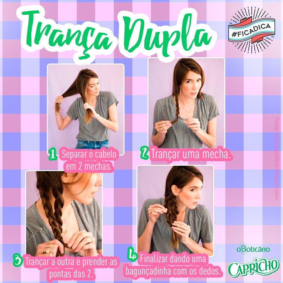 Trança em dobro? *-* #EuQuero! Bora fazer esse penteado lindo e prático e marcar as migas! #Ficaadica https://t.co/UraswPeH19
