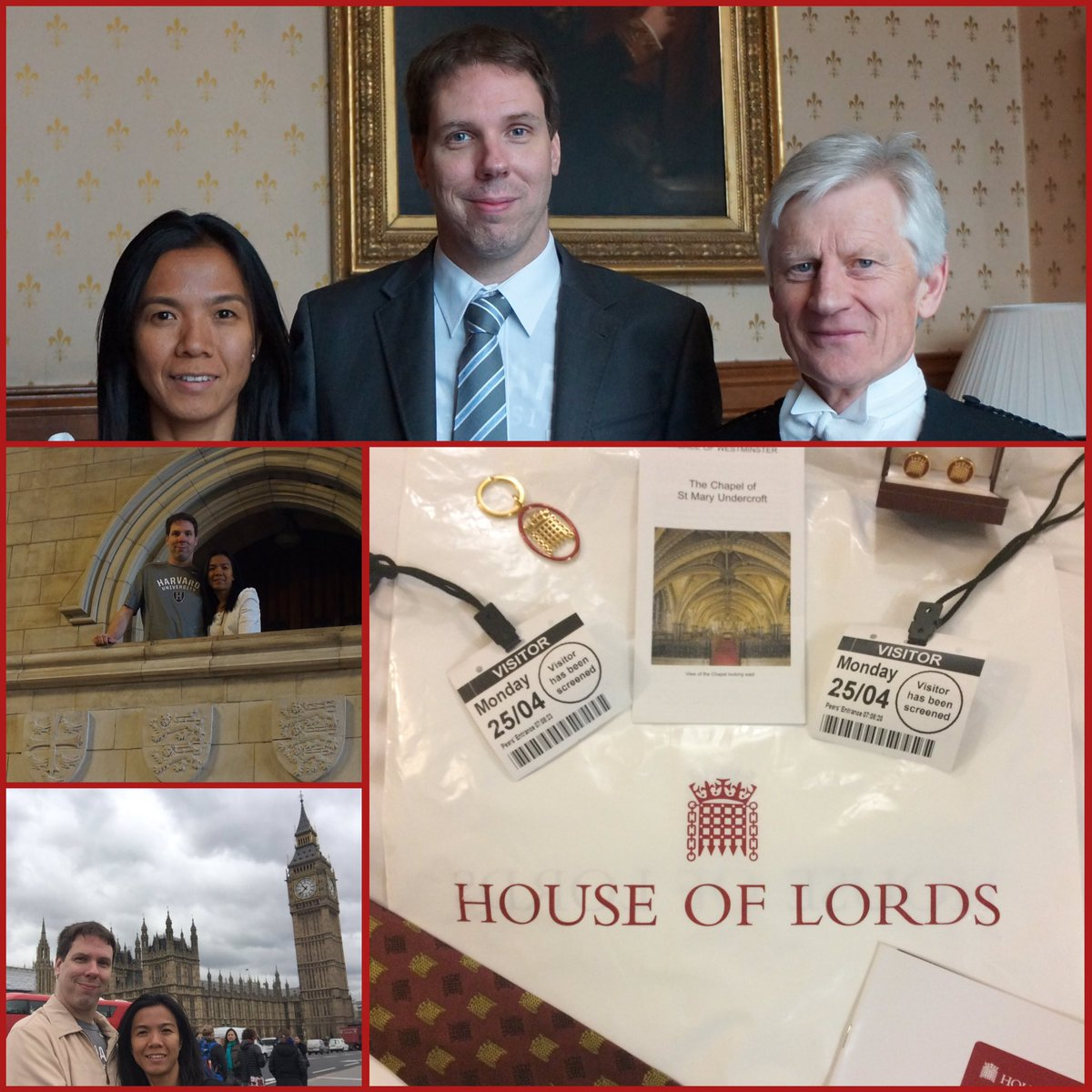 Great lunch with David Leakey (Black Rod) at the House of Lords followed by a session with members of the lords. https://t.co/Zlembq8XeB