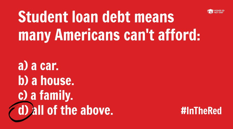 A2: Almost everyone. We can't afford to save for retirement or buy homes. #MillennialMon @YoungInvincible https://t.co/j979VkkRAL