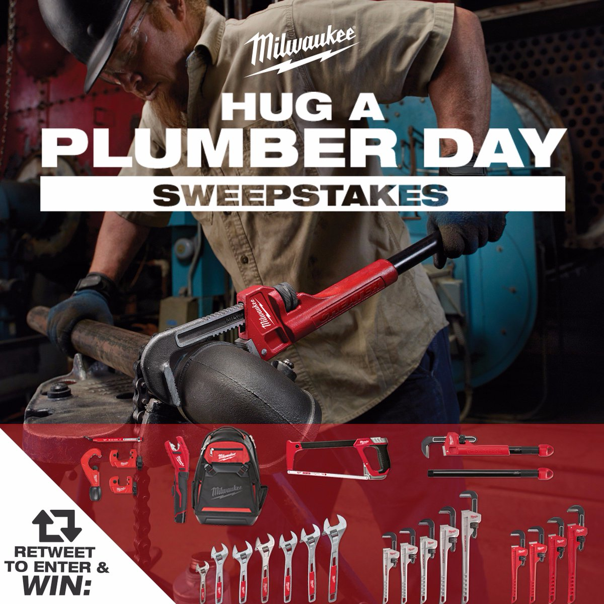 Win Milwaukee's full Plumbing Hand Tool solution this week for #HugaPlumberDay! RT to enter. https://t.co/OqW2PDCUa6 https://t.co/bbi1PiI4St