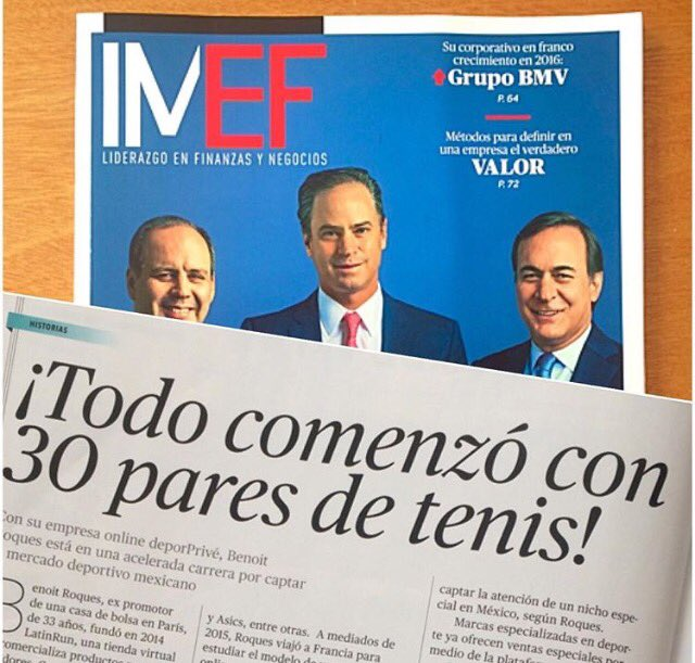 -@deporPrive en @RevistaIMEF ¡Increíble nota, gracias. #MatrakaPR #emprendedores #RevistaIMEF #NuevaÉpoca https://t.co/qTDgO1kmTp