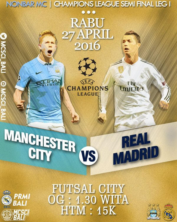 Manchester City Real Madrid Diretta Streaming, vedere Rojadirecta Mediaset semifinale Champions League