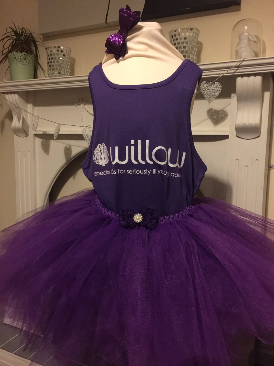 All ready for the big chop tomorrow 💇 i can't wait to see Pops face when she gets her tutu in the morn @Willow_Fdn 💕