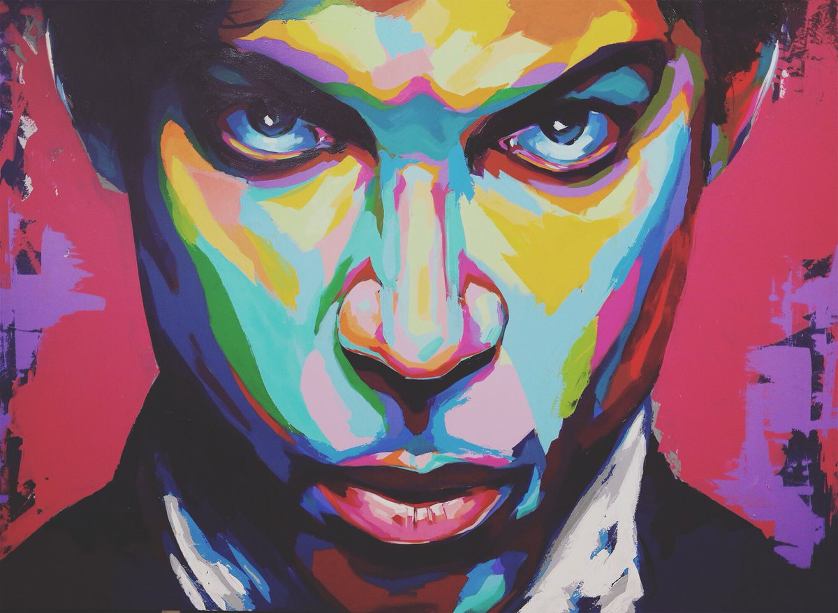 Finally finished the second #Prince #painting. I'm definitely feeling the music right now. https://t.co/H6BkqeZt14
