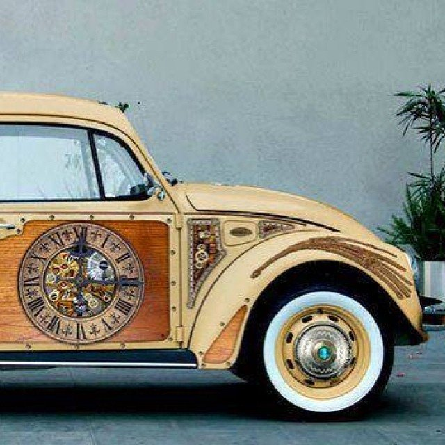 #Car Awesome of the Day: #Steampunk Mechanism & Clock #Volkswagen #Beetle by P.Davidson v @SteampunkStores #SamaCars