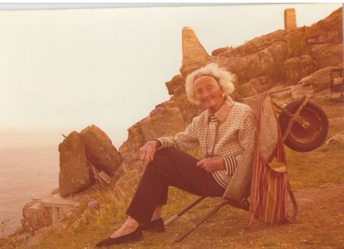 """Minack on Twitter: """"we love this picture of Rowena Cade, our founder in her  trusty wheelbarrow, taken 7/7/1977!… """""""