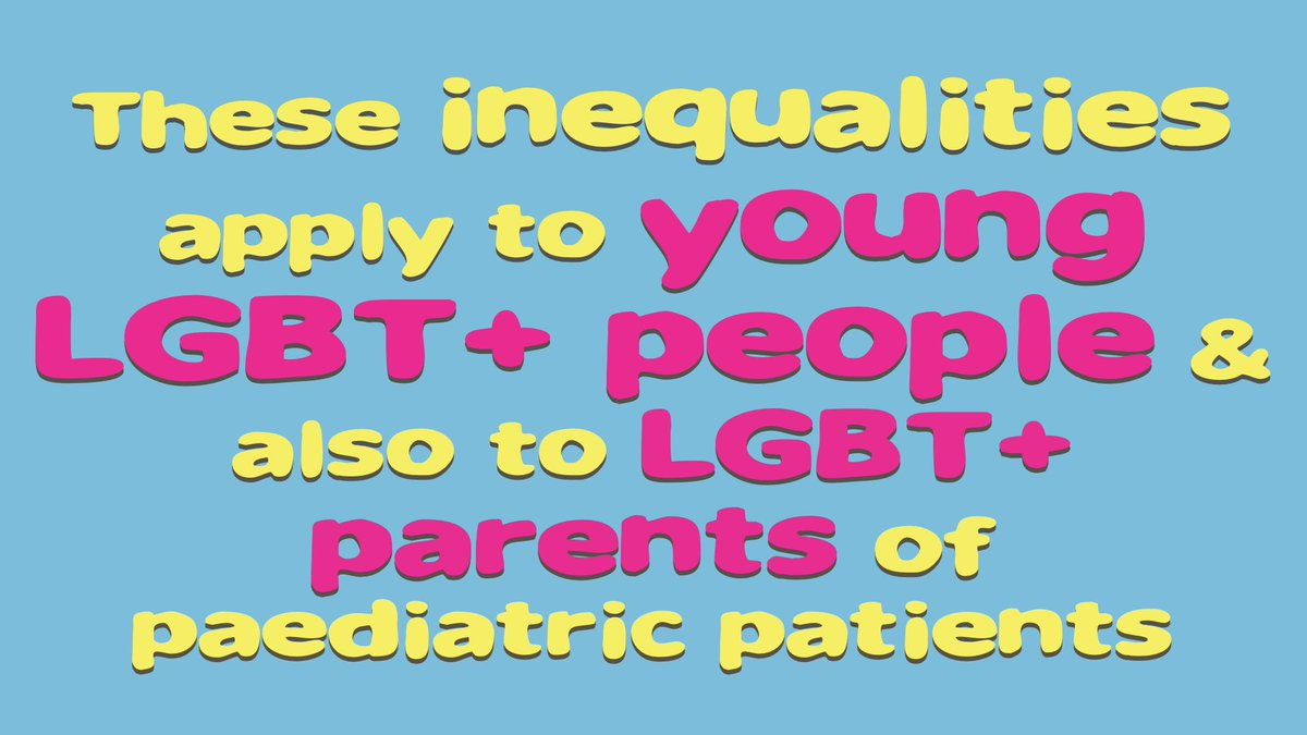 From the limited literature available, we know these inequalities apply to young people too #LGBTpaeds #RCPCH16 https://t.co/vYeQ1rkHs9