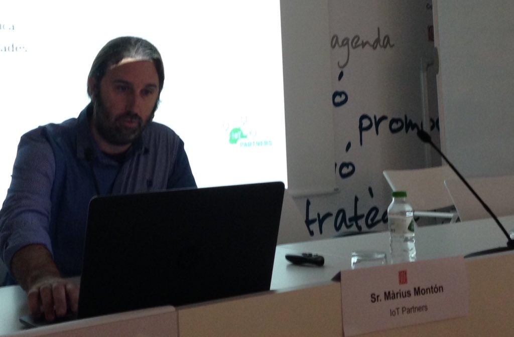 Màrius Montón presentant el cas d'èxit